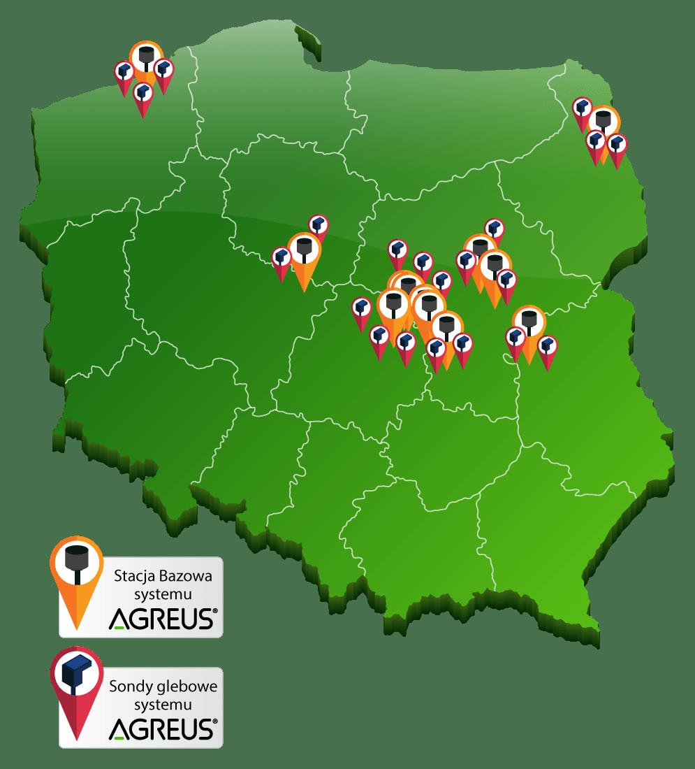 Lokalizacje Stacji Bazowych Sondy PL